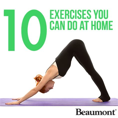 10 exercises you can do at home the beaumont