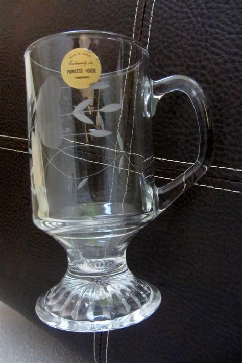 princess house com vintage princess house crystal irish coffee mugs glass
