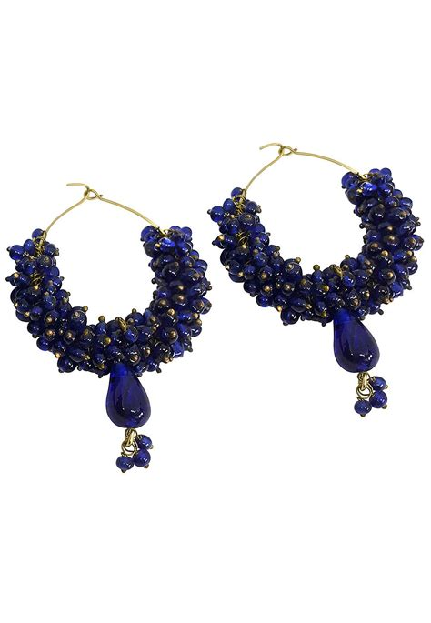 beaded hoop earring jvm2918