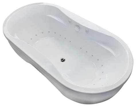 Freestanding Bathtubs With Air Jets by Monet 34 X 71 Oval Freestanding Bathtub W Whirlpool