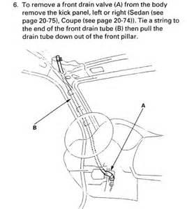 98 accord sunroof drain diagram honda tech