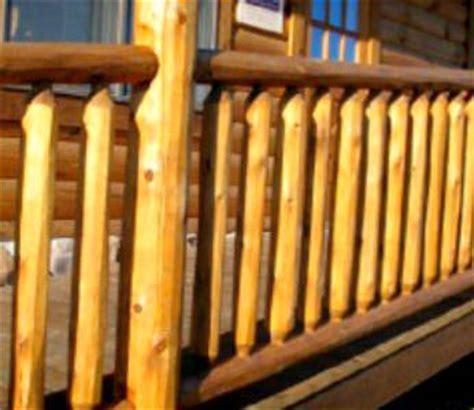 Log Railing   Round Railing   Northern White Cedar   White