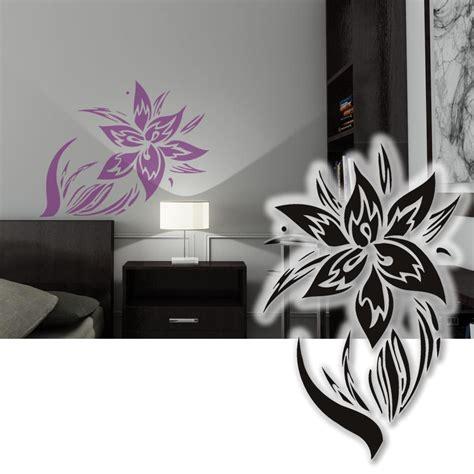 wandsticker wohnzimmer wandtattoo hibiskus tribal blume wandsticker wohnzimmer