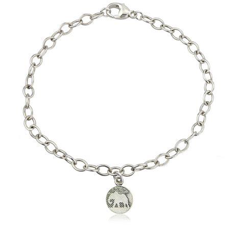 sterling silver elephant charm bracelet by