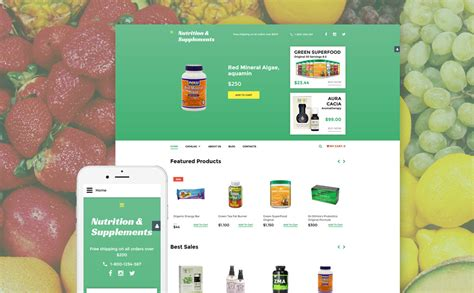 supplement store virtuemart template