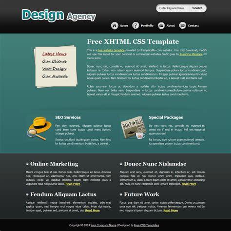 css two column design header footer template 140 design agency