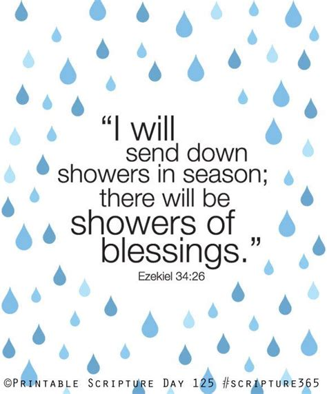 Shower Blessings by Ezekiel 34 26 Showers Of Blessing 8x10 Diy Printable
