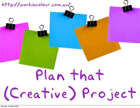 Creative Project Planning Ideas Creative Project Presentations