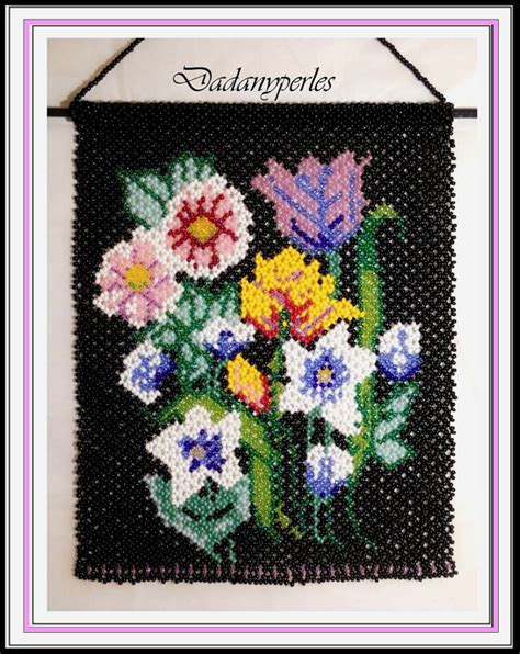 beaded tapestry patterns pattern bead weaving tapestry flower