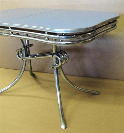Chrome Kitchen Table by Authentic 1950s Chrome Formica 1950s Modern Kitchen