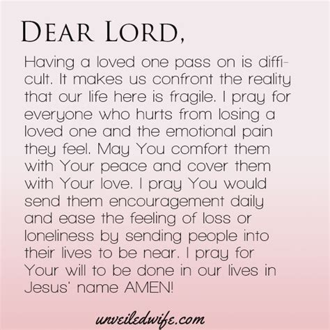 comforting someone who has lost a loved one prayer comfort with loss emotional pain lord and peace