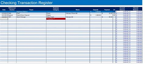 microsoft excel check register template how to create a checkbook register in excel turbofuture