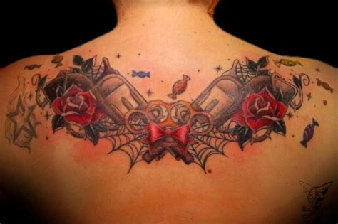 rose and bow tattoo gun knuckle bow roses tattoos