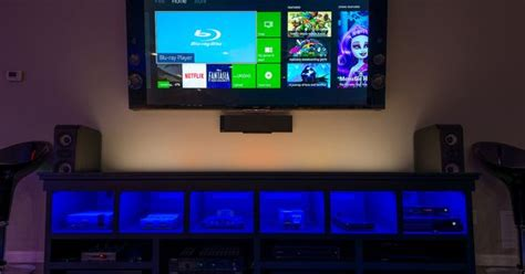 80 Inch Tv Gaming by Family Room Tv Media Center 6 Generations Of Gaming
