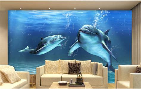 3d wandgestaltung unterwasserwelt wandgestaltung im wohnzimmer