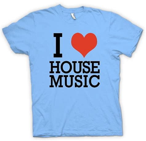 i heart house music shirt mens t shirt i love heart house music dj fruugo