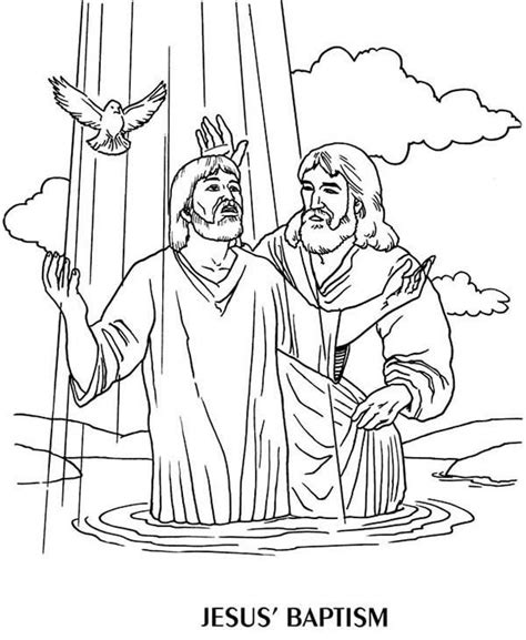 coloring pages baby baptism jesus baptism by john the baptist coloring page children