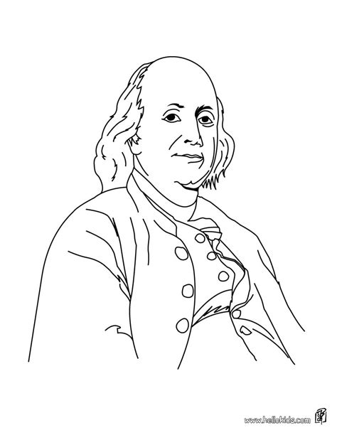 4th of july coloring pages benjamin franklin