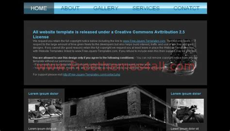 Free Academy Black Blue Website Template Freethemes4all Free Website Templates For Academy