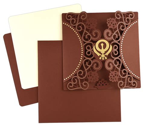 Sikh Wedding Invitation Cards by Indian Wedding Card S