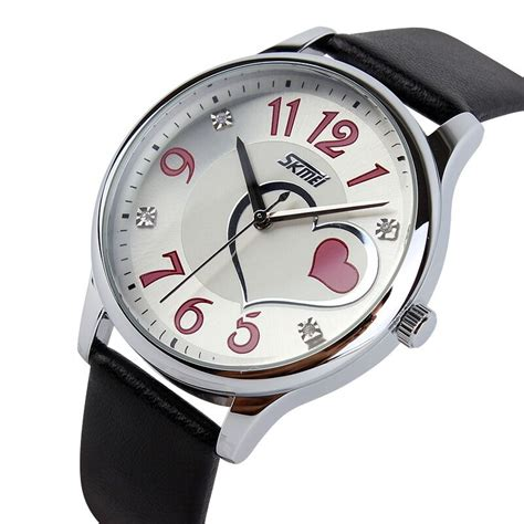 Jam Tangan Skmei Black skmei jam tangan analog wanita 9085cl black jakartanotebook