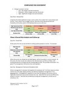 Compliance Program Template by Compliance Risk Assessment