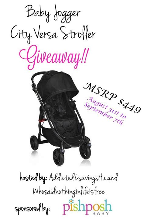 Free Baby Giveaways 2014 - baby jogger city versa stroller giveaway who said nothing in life is free