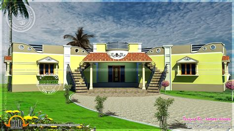 tamilnadu style single floor duplex house plan kerala