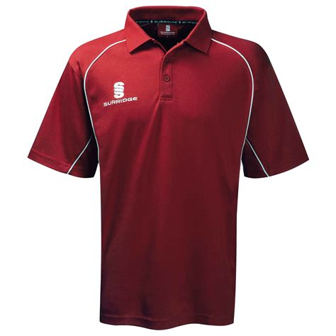 Hoodie Polos Maroon surridge sport alpha polo shirt maroon white