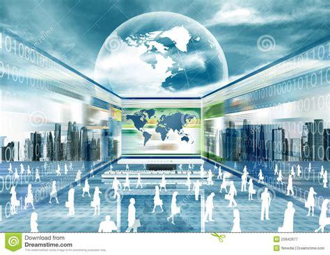 virtual business world royalty  stock photography