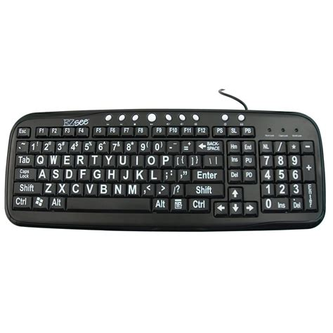 White Black Kets maxiaids ez see large print keyboard black white print