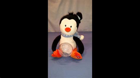 singing musical penguin snow globe dancing merry  youtube