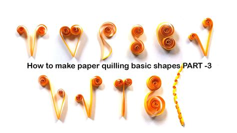 how to make basic quilling how to make quilling basic shapes for beginners tutorial