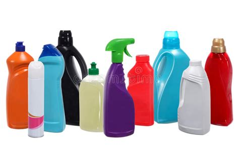 Detox Plastik by Many Different Plastic Bottles Of Cleaning Products Stock