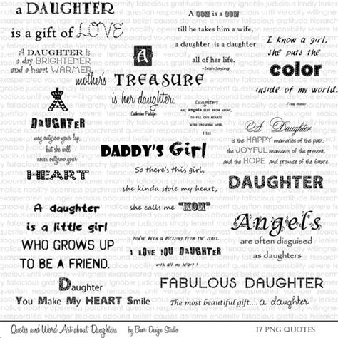 printable daughter quotes printable quotes quotes about daughters word art about