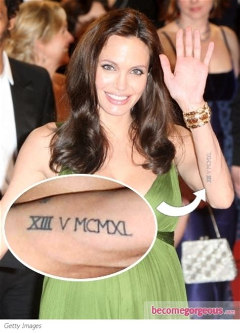 angelina jolie wrist tattoo pictures tattoos xiii