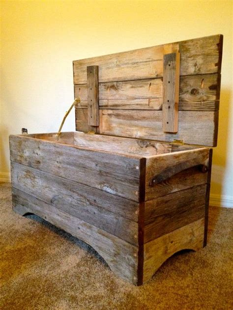 wood storage trunk bench reclaimed barn wood chest wood storage reclaimed barn