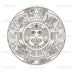 aztec colors aztec calendar coloring page ancient history
