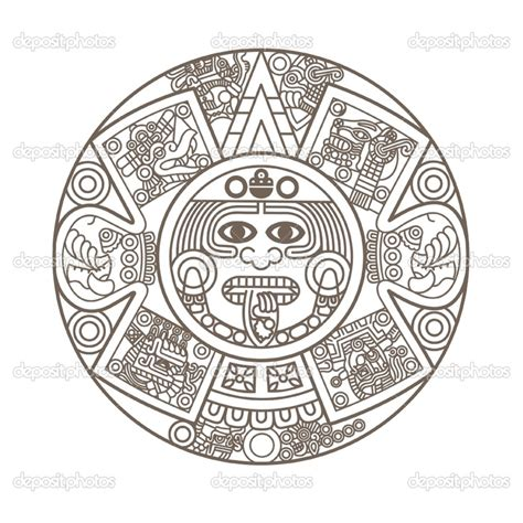 aztec calendar coloring page tattoo mfw rome to