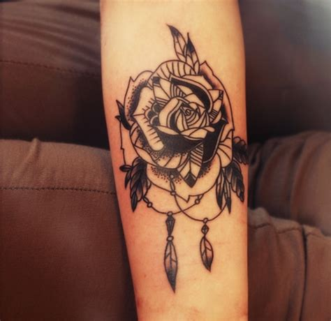 rose tattoo forearm on forearm