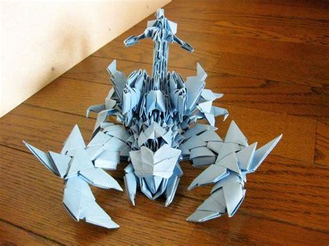 How To Make A Paper Scorpion - 17 best images about origami 3d on planes
