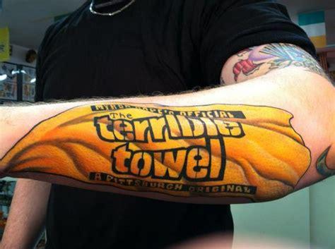 steeler tattoos pittsburgh steelers fan gets terrible towel tattooed on