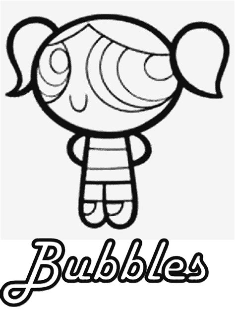 coloring pages of bubbles the powerpuff girl coloring pages of the power puff girls bubbles coloring home