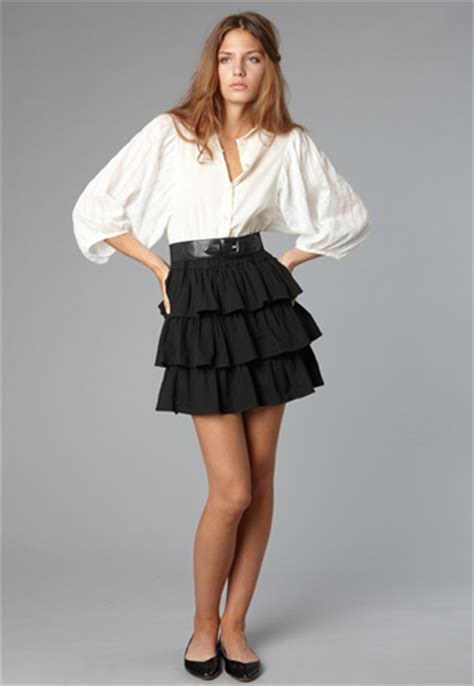 Ruffled Skirt ruffle skirt dressed up