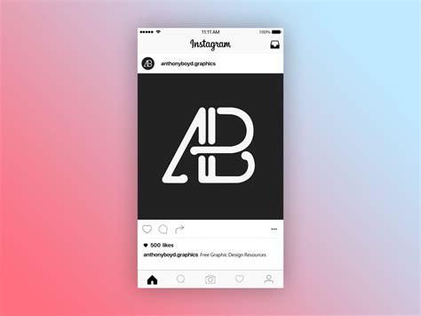 instagram design online instagram post mockup free download psd file desain 360
