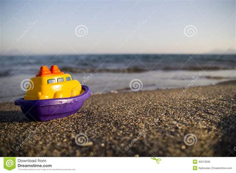 toy boat for beach toy boat on the beach stock photo image of greece lies