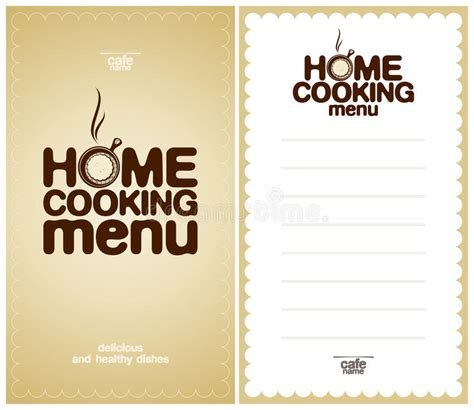 home cooking menu design template stock vector image