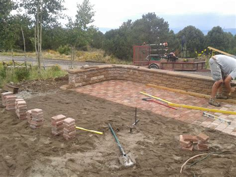 Bristlecone Landscapes 187 Patio Fire Pit Install Pit Installation