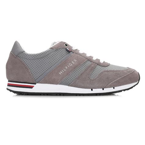 hilfiger athletic shoes hilfiger mens grey 5c trainers lace up casual sport