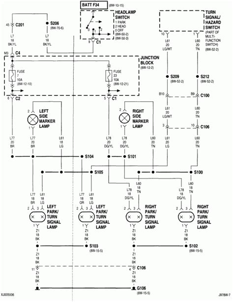 1997 jeep grand headlight wiring diagram wiring
